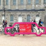 temporary bike parking, event advertising