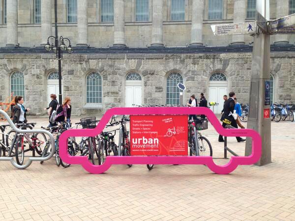 temporary bike parking, event advertising