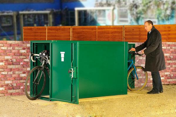 Doubled Ended Bike Locker