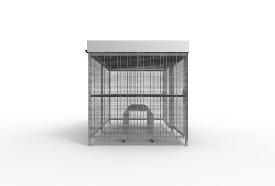 Mesh shelter side view