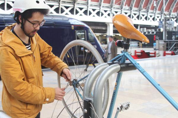 Public Bicycle Repair Stand