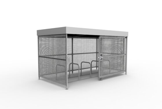 Mesh shelter with sliding door and 10 space toast rack