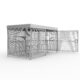 Mesh shelter with swing door and 10 space toast rack