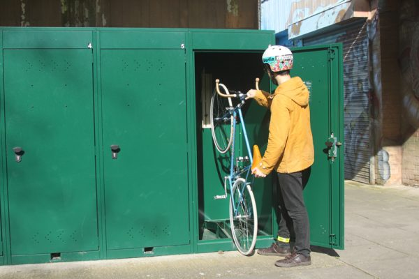 Vertical Bike Locker