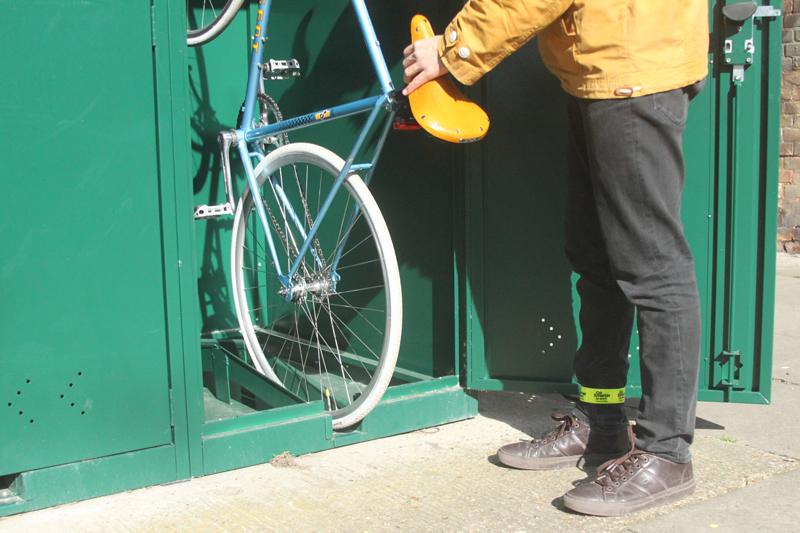 Bike Cable Lock >> Vertical Bike Locker | Cyclehoop