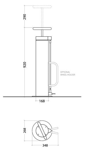 diagram of a bicycle pump