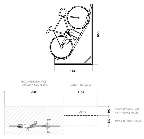 Semi Vertical Bike Rack Cyclehoop