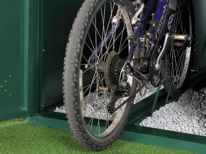 Bike Locker Inside Ramp