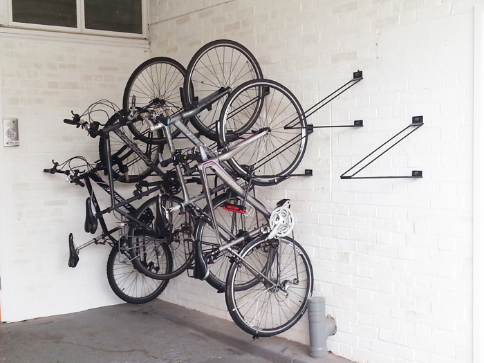 8 Ways To Store Your Bike That Look Cool likewise Gun Cabi  Coffee Table Plans besides Cabi  systems together with Trailer as well Closet Shoe Rack Plans. on locking wall rack