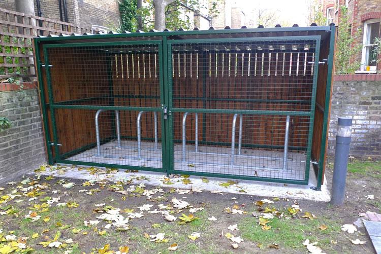 Metal Bicycle Shelters : Wooden bike shelter cyclehoop