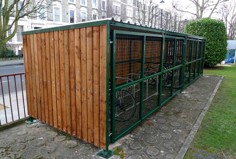 Small Bike Shelters : Wooden bike shelter cyclehoop