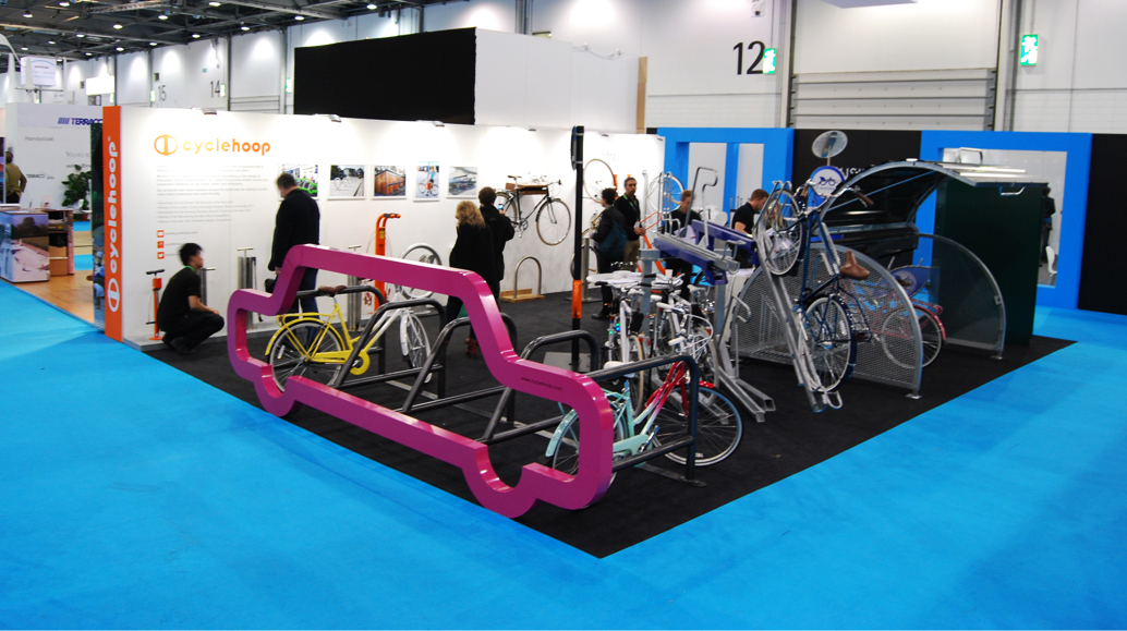 Exhibition Stand Builders Sheffield : Cyclehoop s large stand at ecobuild attracts of