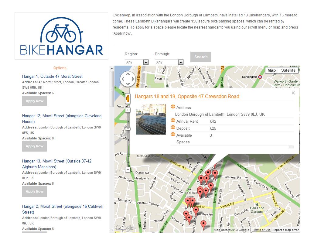 Bikehangar Online Rental Scheme