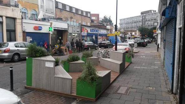 new parklet well street