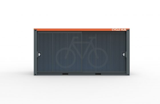 Container Cycle Hub No Rack Front Closed