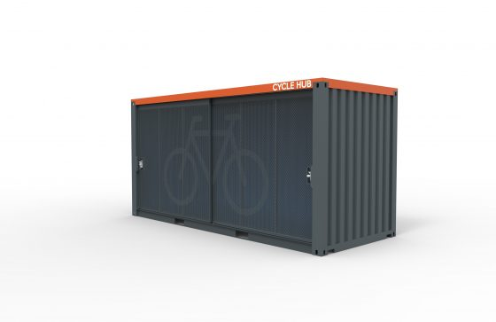 Container Cycle Hub No Rack Side Closed